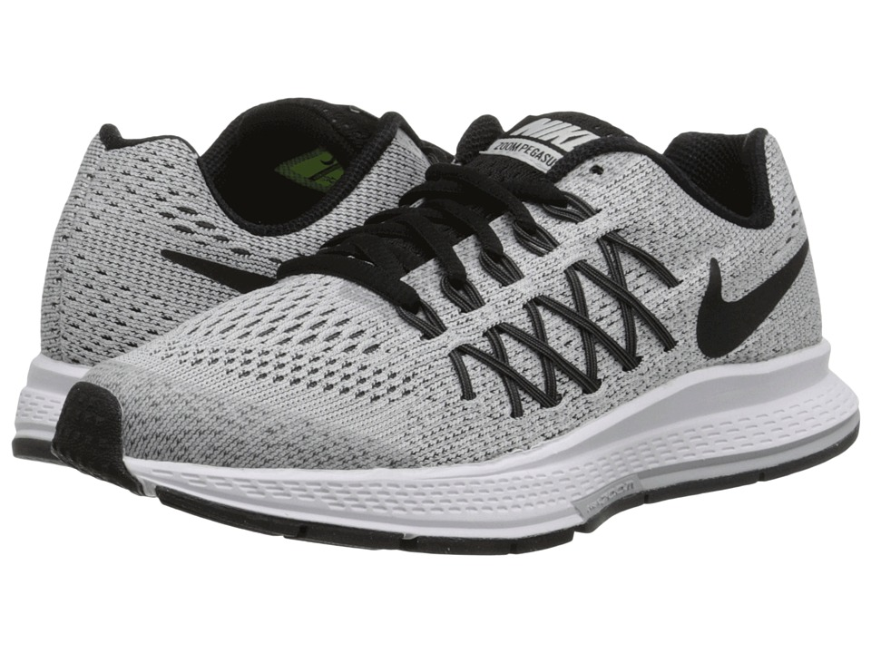 Nike Kids - Zoom Pegasus 32 (Big Kid) (Pure Platinum/Dark Grey/Black) Boys Shoes