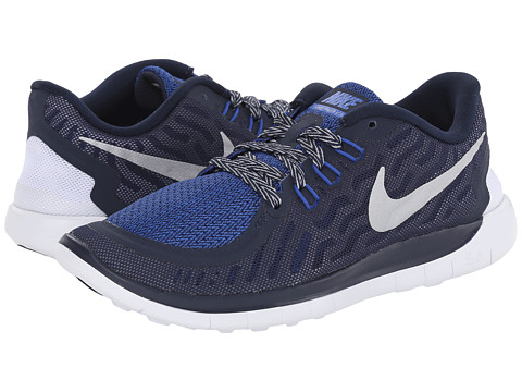 Nike Kids - Free 5.0 (Big Kid) (Obsidian/Cool Grey/Wolf Grey/Metallic Silver) Boys Shoes