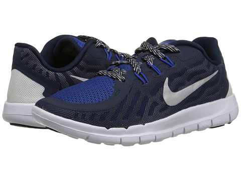 Nike Kids - Free 5.0 (Little Kid) (Obsidian/Cool Grey/Wolf Grey/Metallic Silver) Boys Shoes