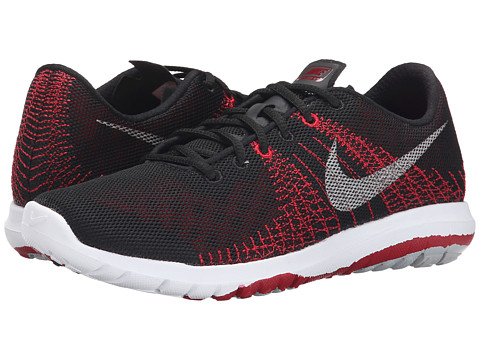 Nike Kids - Flex Fury (Big Kid) (Black/Gym Red/Wolf Grey/Metallic Silver) Boys Shoes