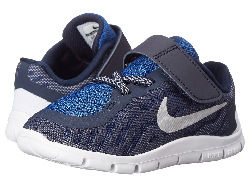 Nike Kids - Free 5 (Infant/Toddler) (Obsidian/Cool Grey/Cool Grey/Metallic Silver) Boys Shoes