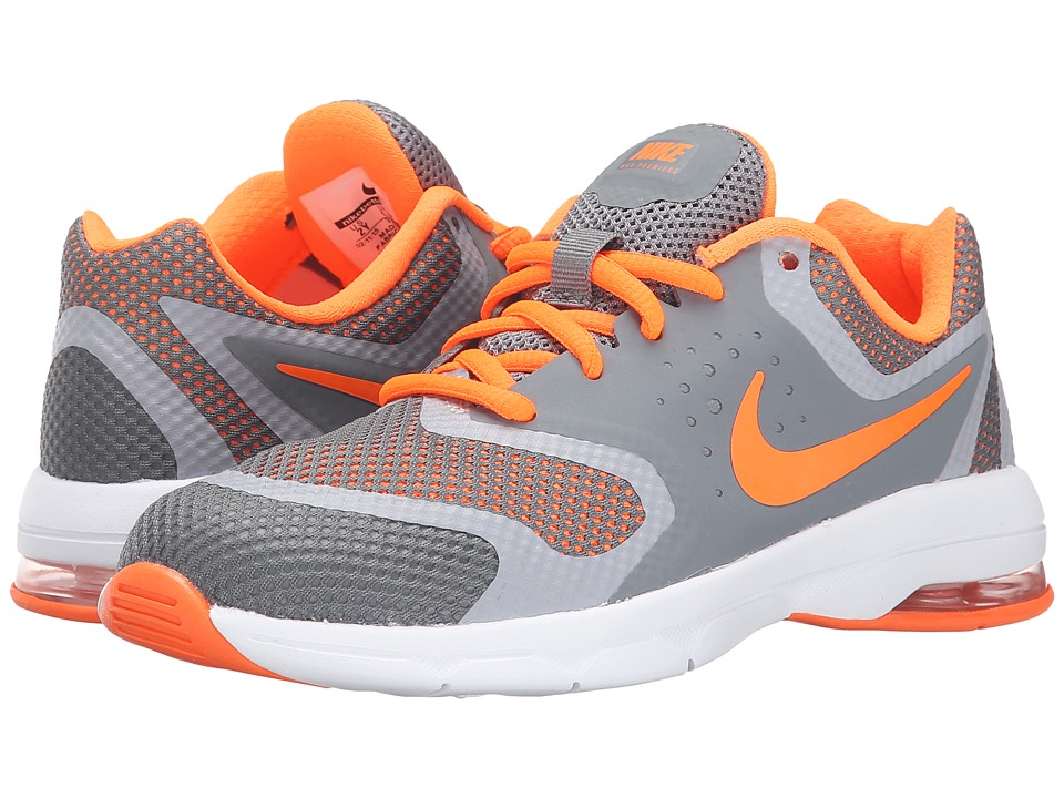 Nike Kids - Air Max Premiere Run (Little Kid) (Cool Grey/Wolf Grey/White/Total Orange) Boys Shoes