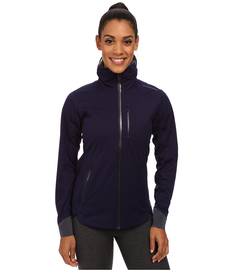 Brooks - Seattle Shell (Navy) Women's Coat
