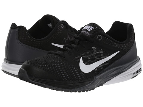 Nike Kids - Tri Fusion Run (Big Kid) (Black/Dark Grey/Metallic Silver/White) Boys Shoes