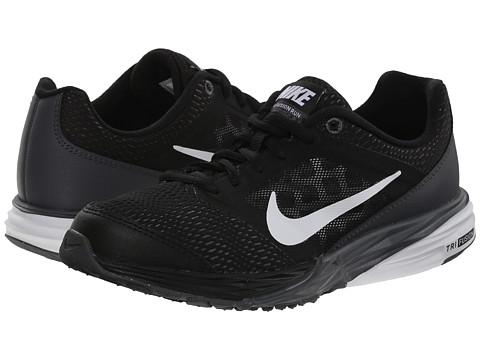 Nike Kids - Tri Fusion Run (Big Kid) (Black/Dark Grey/Metallic Silver/White) Boys Shoes