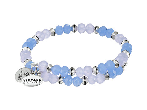 Alex and Ani - Sentiment Wrap Bracelet (Periwinkle Rafaelian Silver Finish) Bracelet