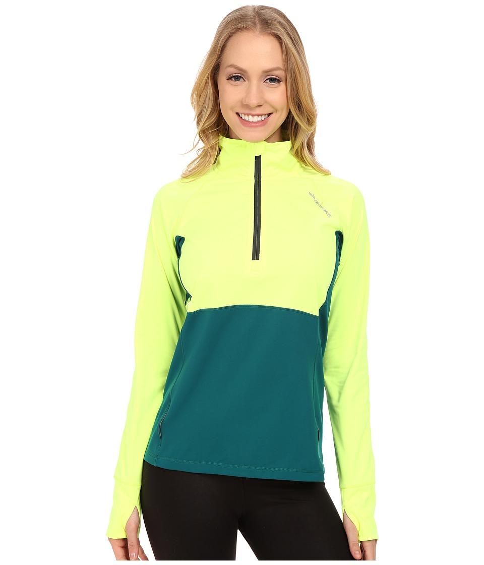 Brooks - Drift 1/2 Zip (Nightlife/Kale) Women's Long Sleeve Pullover