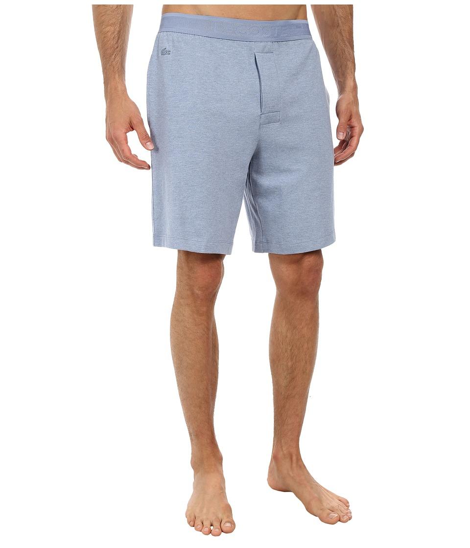 Lacoste - Pique Lounge Shorts Pique (Denim Melange) Men's Shorts