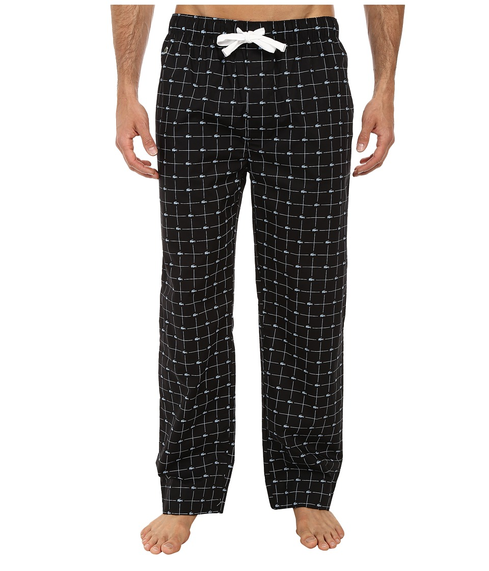 Lacoste - Baseline Croc Pants (Black) Men's Pajama