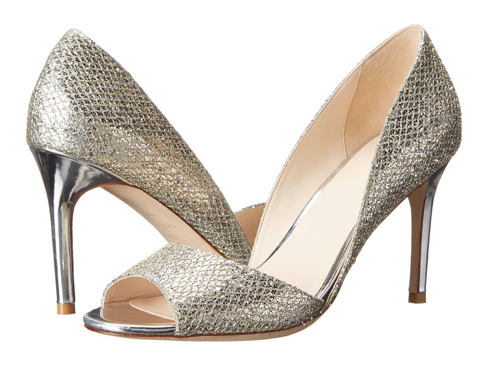 Cole Haan - Antonia Open Toe Pump (Gold/Silver Glitter) High Heels