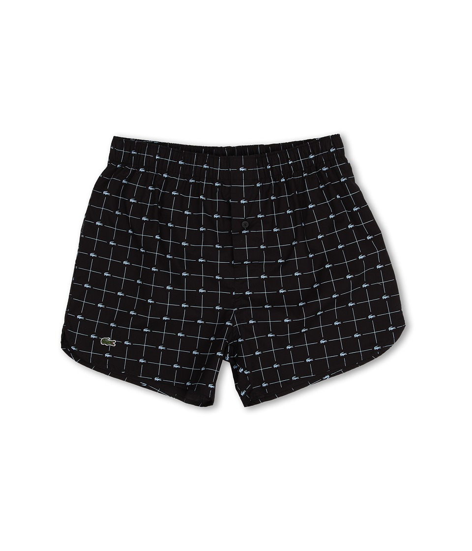 Lacoste - Authentics Woven Boxer Croc Boxer (Black) Men's Underwear