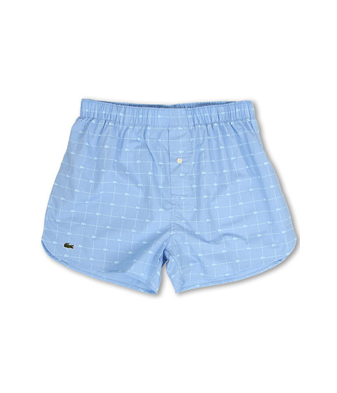 Lacoste - Authentics Woven Boxer Croc Boxer (Light Blue) Men's Underwear