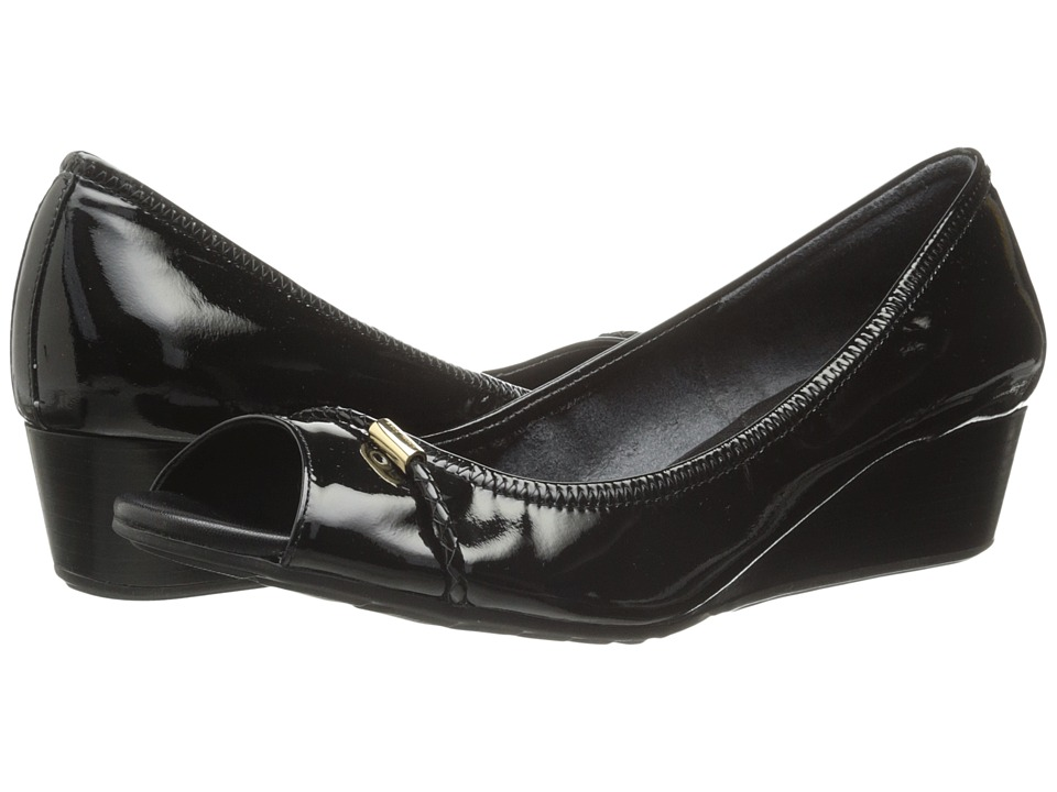 Cole Haan - Tali Open Toe Wedge 40 (Black) Women's Wedge Shoes