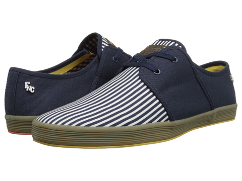 Base London - Spam 2 (Navy Stripe) Men's Shoes