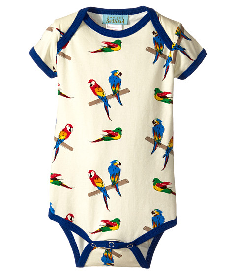 BedHead Kids - Short Sleeve One-Piece (Infant) (Parrot Jungle) Kid's Jumpsuit & Rompers One Piece