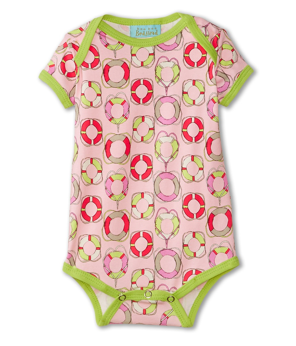 BedHead Kids - Short Sleeve One-Piece (Infant) (Light Pink Lifesavers) Girl's Jumpsuit & Rompers One Piece