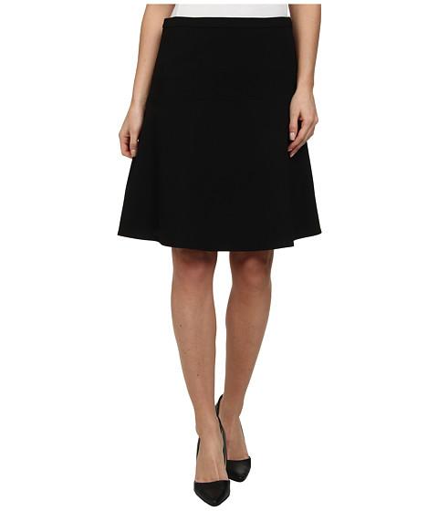Calvin Klein - Solid A-Line Skirt (Black) Women