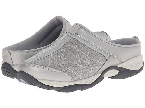 Easy Spirit - EZ Time (Silver Combo Leather) Women's Clog Shoes