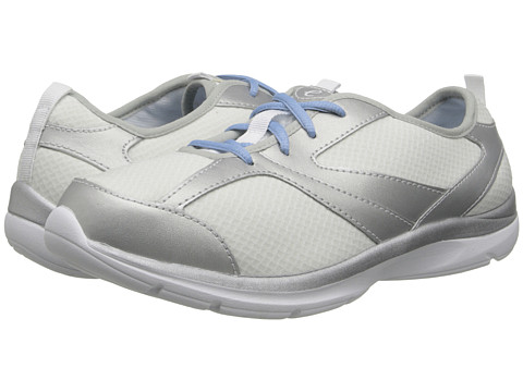Easy Spirit - Quatro (White/Silver Fabric) Women's Shoes