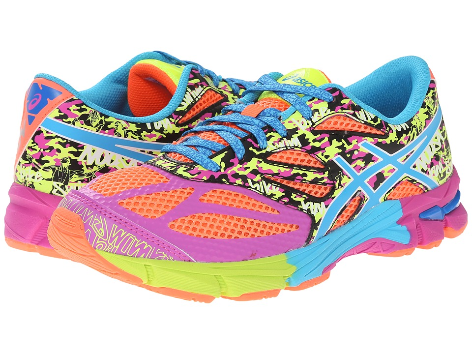 ASICS Kids - Gel-Noosa Tri 10 GS (Little Kid/Big Kid) (Flash Coral/Turquoise/Pink Glow) Girls Shoes