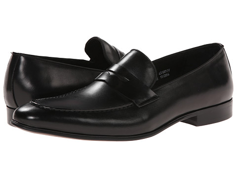 Dune London - Racehorse (Black Leather) Men's Slip on Shoes