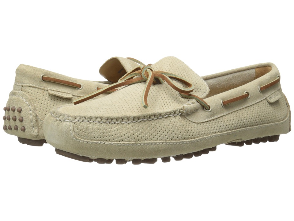 Cole Haan - Grant Canoe Camp Moc (Oyster Grey Perf Suede) Men's Slip on Shoes