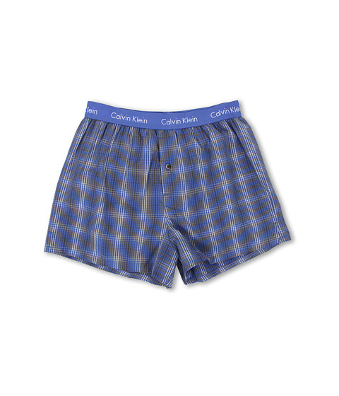 Calvin Klein Underwear - Matrix Woven Slim Fit Boxer U1513 (Jamie Plaid/Cobalt Water) Men's Underwear