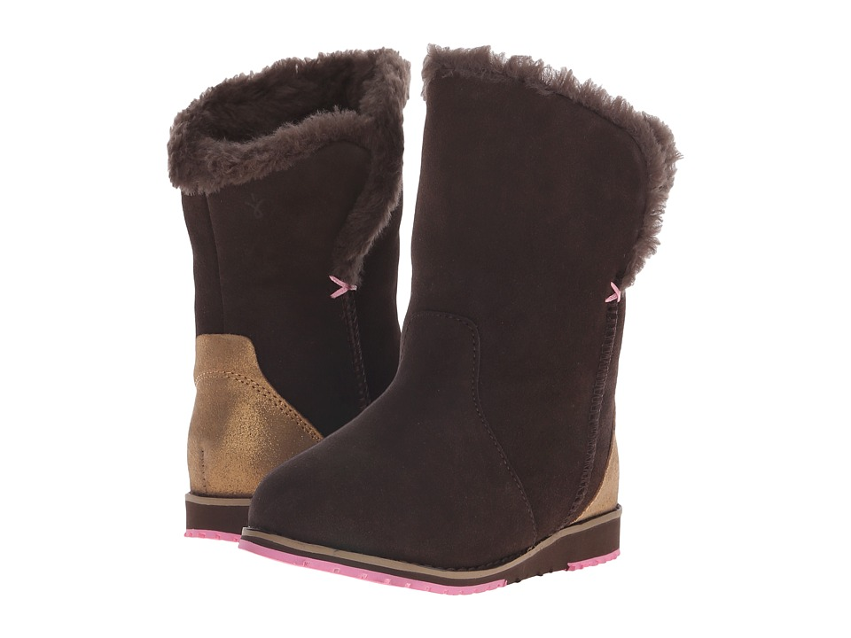 EMU Australia - Beach Lo (Toddler/Little Kid/Big Kid) (Chocolate) Women's Boots
