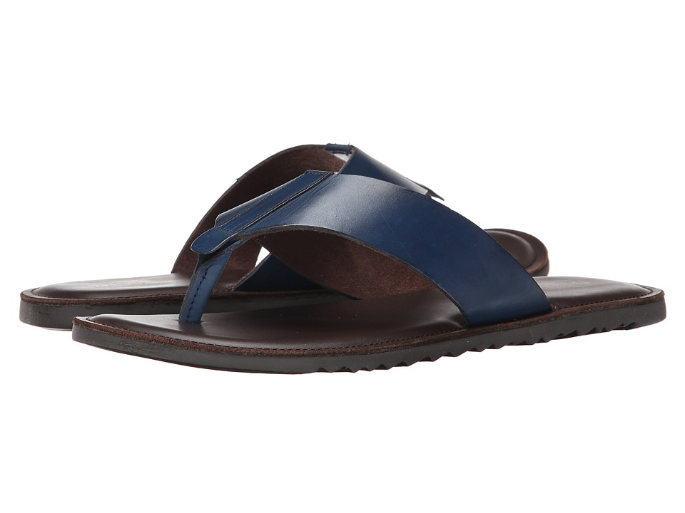 Dune London - Inka Trail (Blue Leather) Men's Sandals