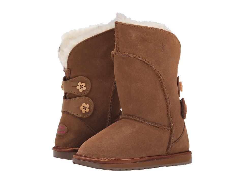 EMU Australia - Alba Button (Toddler/Little Kid/Big Kid) (Chestnut) Women's Boots