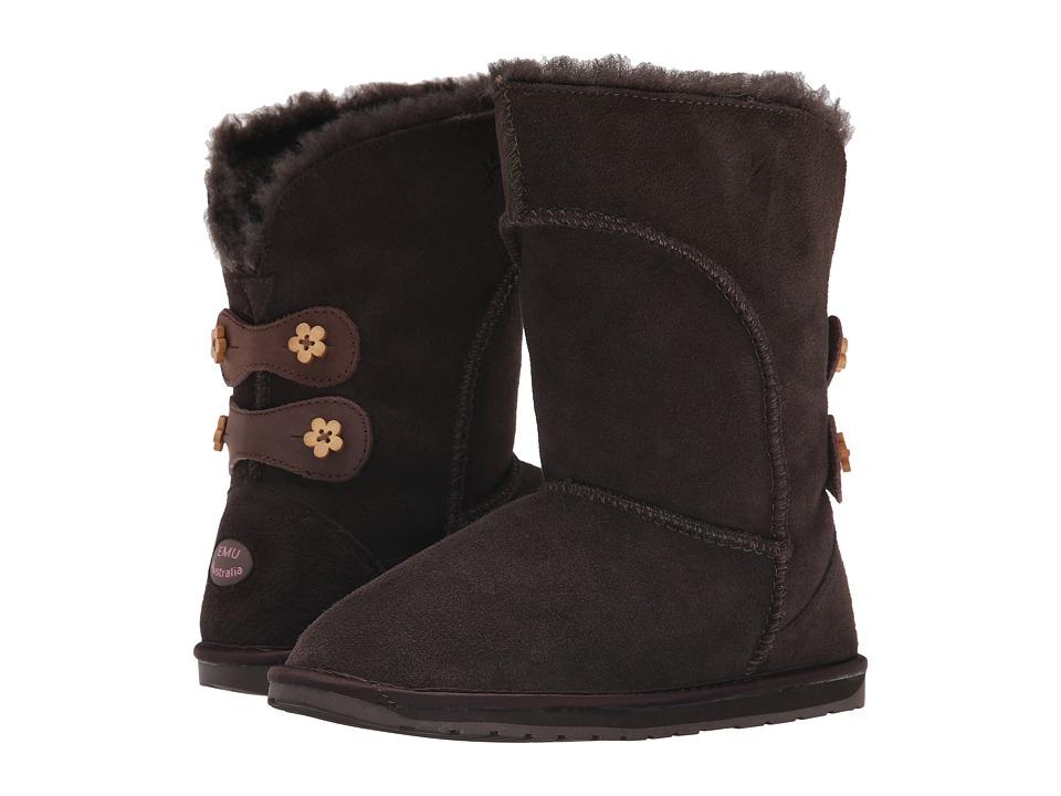EMU Australia - Alba Button (Toddler/Little Kid/Big Kid) (Chocolate) Women's Boots