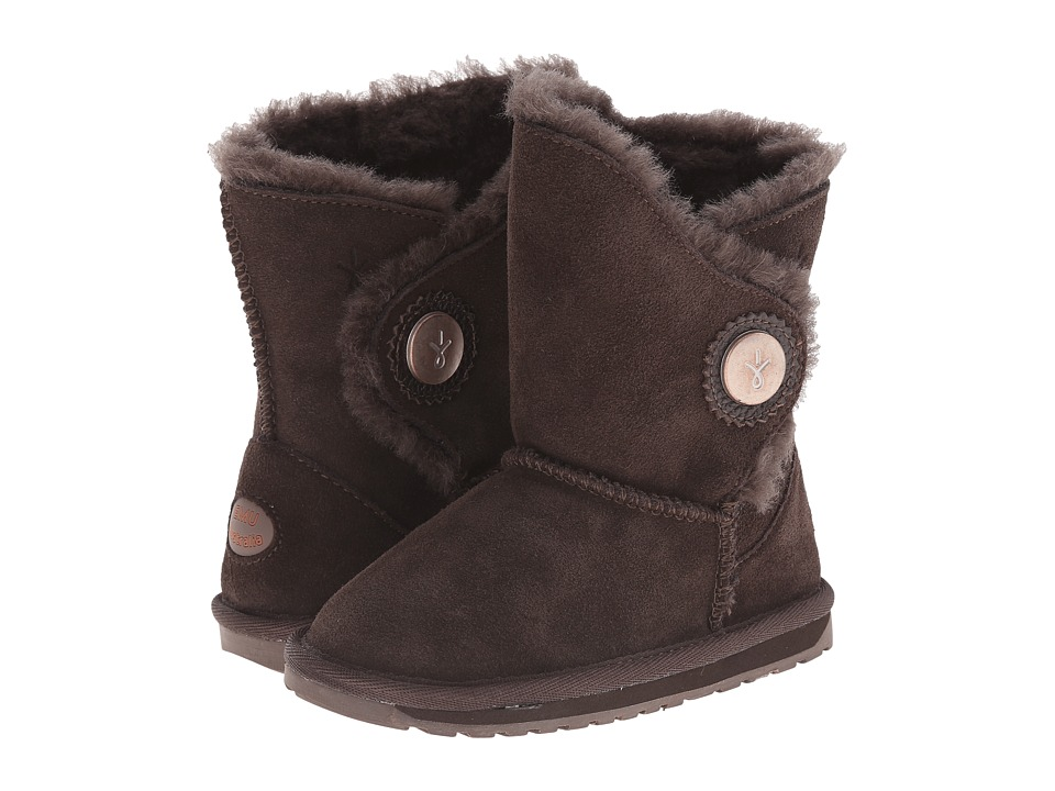 EMU Australia - Hakea Lo (Toddler/Little Kid/Big Kid) (Chocolate) Women's Cold Weather Boots