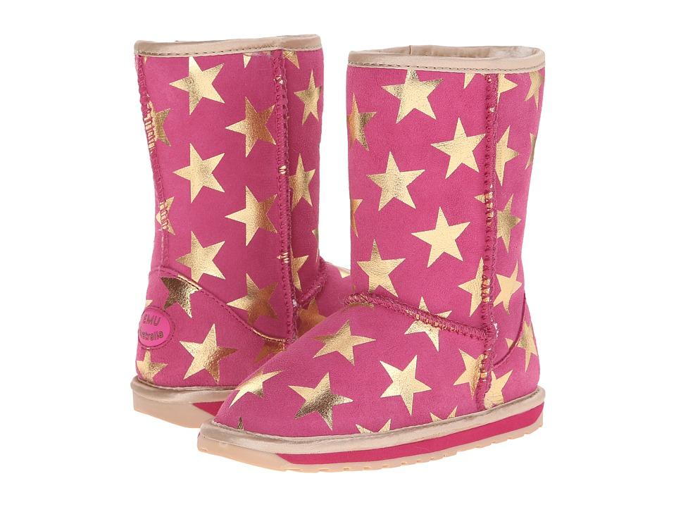 EMU Australia Kids - Stary Night (Toddler/Little Kid/Big Kid) (Hot Pink) Girls Shoes