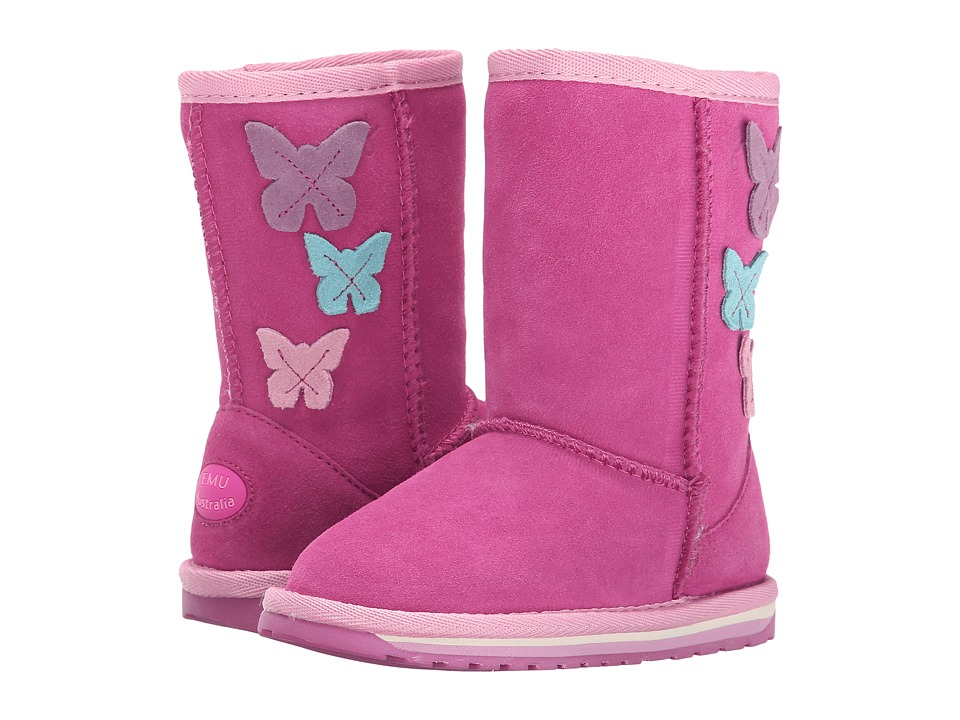 EMU Australia Kids - Bright Lo (Toddler/Little Kid/Big Kid) (Hot Pink) Girls Shoes