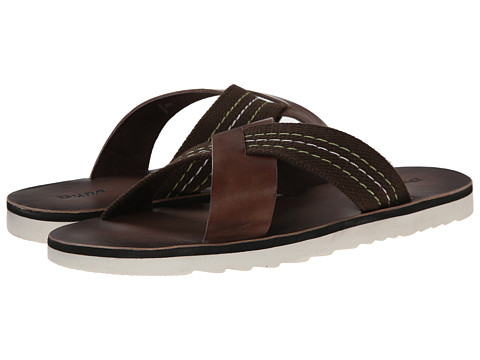 Dune London - Inky (Brown Leather) Men's Sandals