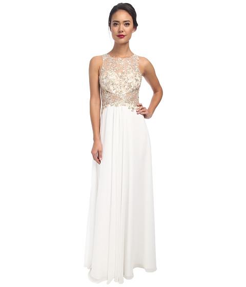 Faviana - Glamour Chiffon with Lace Bust S7533 (Ivory) Women