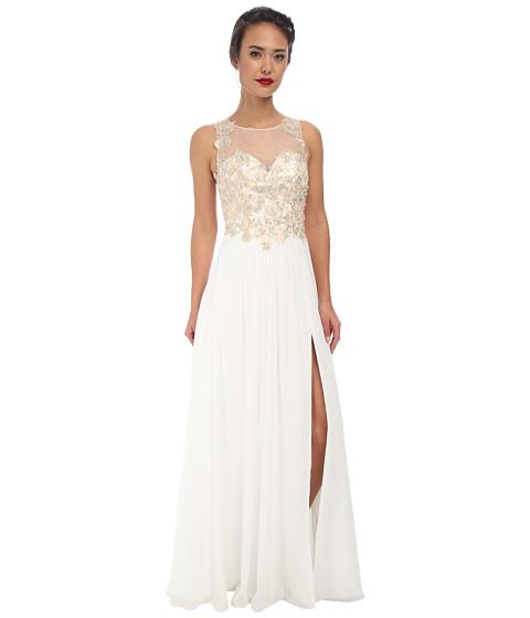 Faviana - Glamour Chiffon Lace Bust Dress S7503 (Ivory) Women's Dress