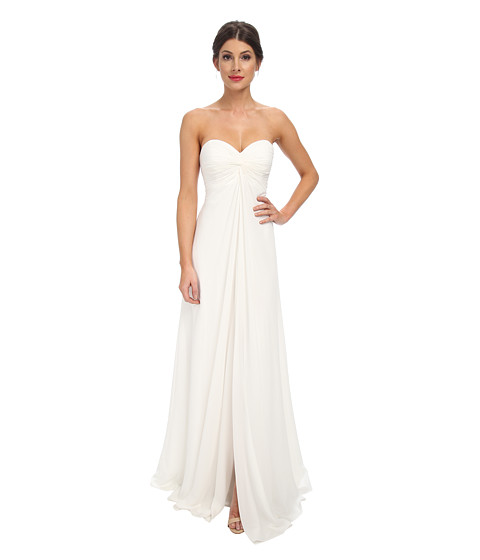 Faviana - Chiffon Strapless Sweetheart Knot Dress 7591 (Ivory) Women