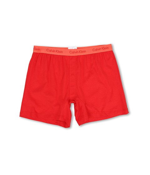 Calvin Klein Underwear - Bar Matrix Slim Fit Knit Boxer (Red Heat) Men
