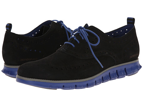 Cole Haan - Zerogrand Wing Ox (Black Suede) Men
