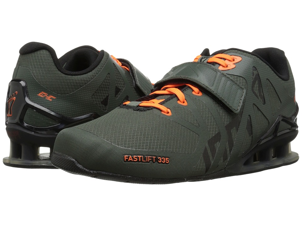 inov-8 - FastLift 335 (Thyme/Black/Orange) Men's Running Shoes