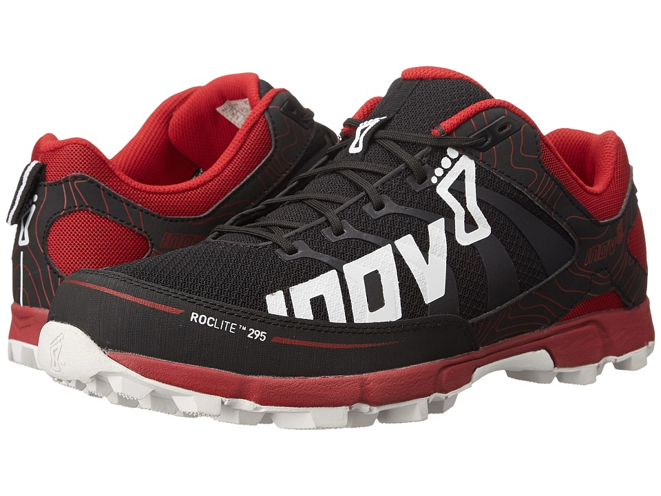 inov-8 - Roclite 295 (Grey/Red/Black) Men's Running Shoes
