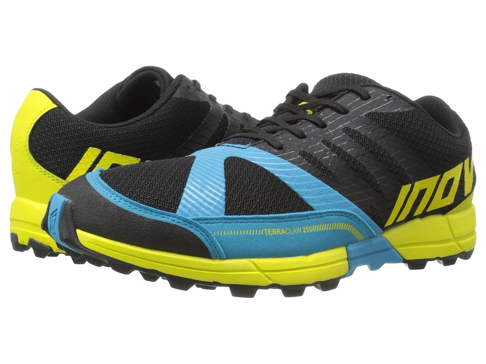 inov-8 - Terraclaw 250 (Black/Blue/Lime) Men's Running Shoes