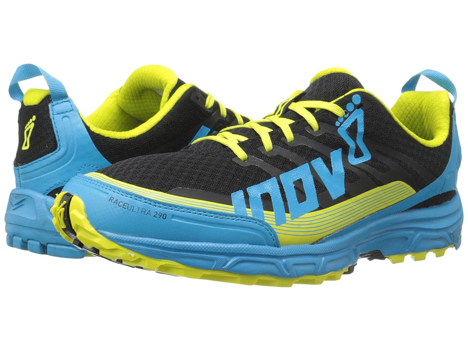 inov-8 - Race Ultra 290 (Black/Blue/Lime) Men's Running Shoes