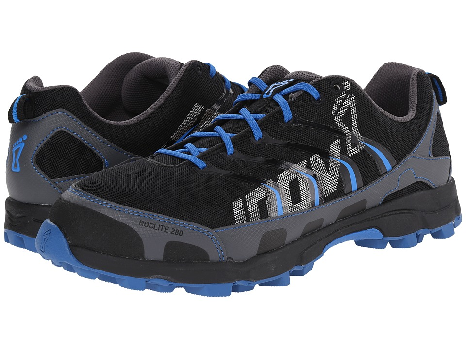 inov-8 - Roclite 280 (Grey/Blue/Black) Men's Running Shoes