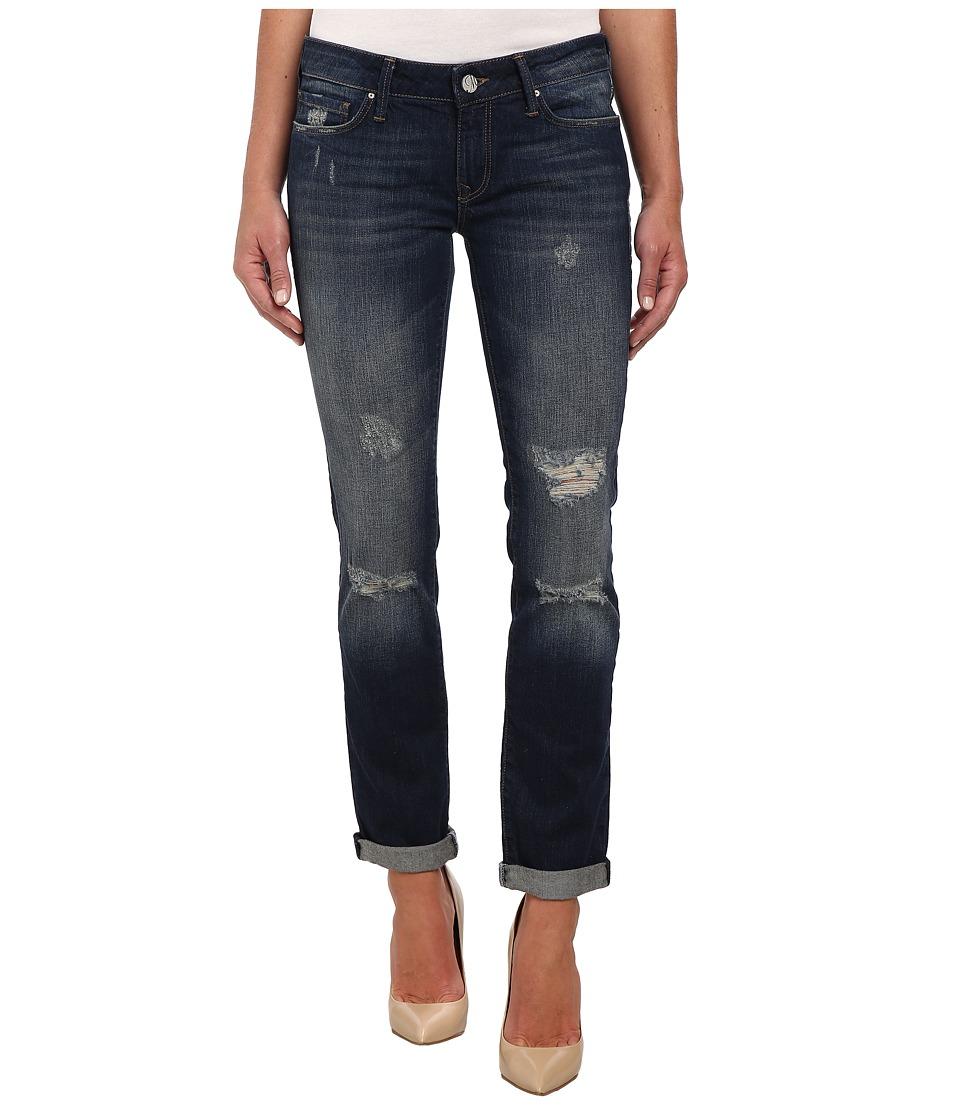 Mavi Jeans - Emma Slim Boyfriend in Dark Ripped Authentic (Dark Ripped Authentic) Women's Jeans