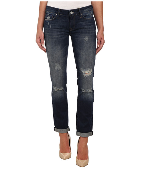 Mavi Jeans - Emma Slim Boyfriend in Dark Ripped Authentic (Dark Ripped Authentic) Women