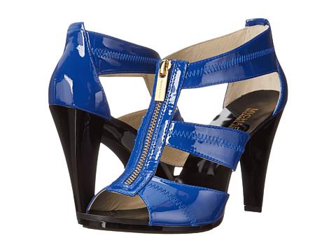 MICHAEL Michael Kors - Berkley T-Strap (Electric Blue Patent) Women