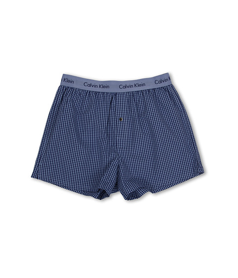 Calvin Klein Underwear - Matrix Woven Slim Fit Boxer U1513 (Christopher Check/Sky Space) Men