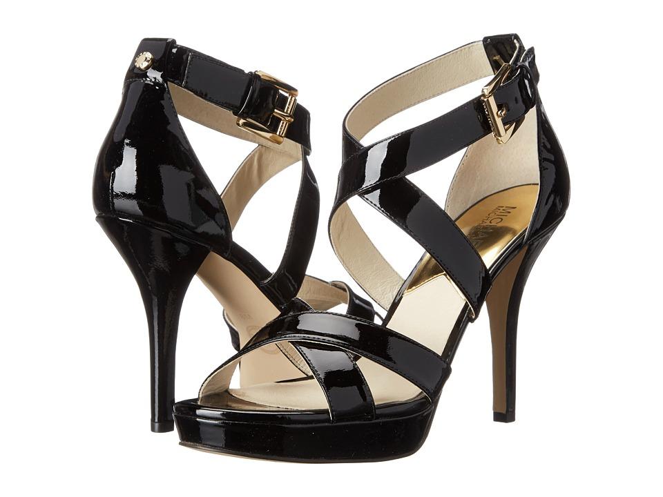 MICHAEL Michael Kors - Evie Platform (Black Patent) High Heels